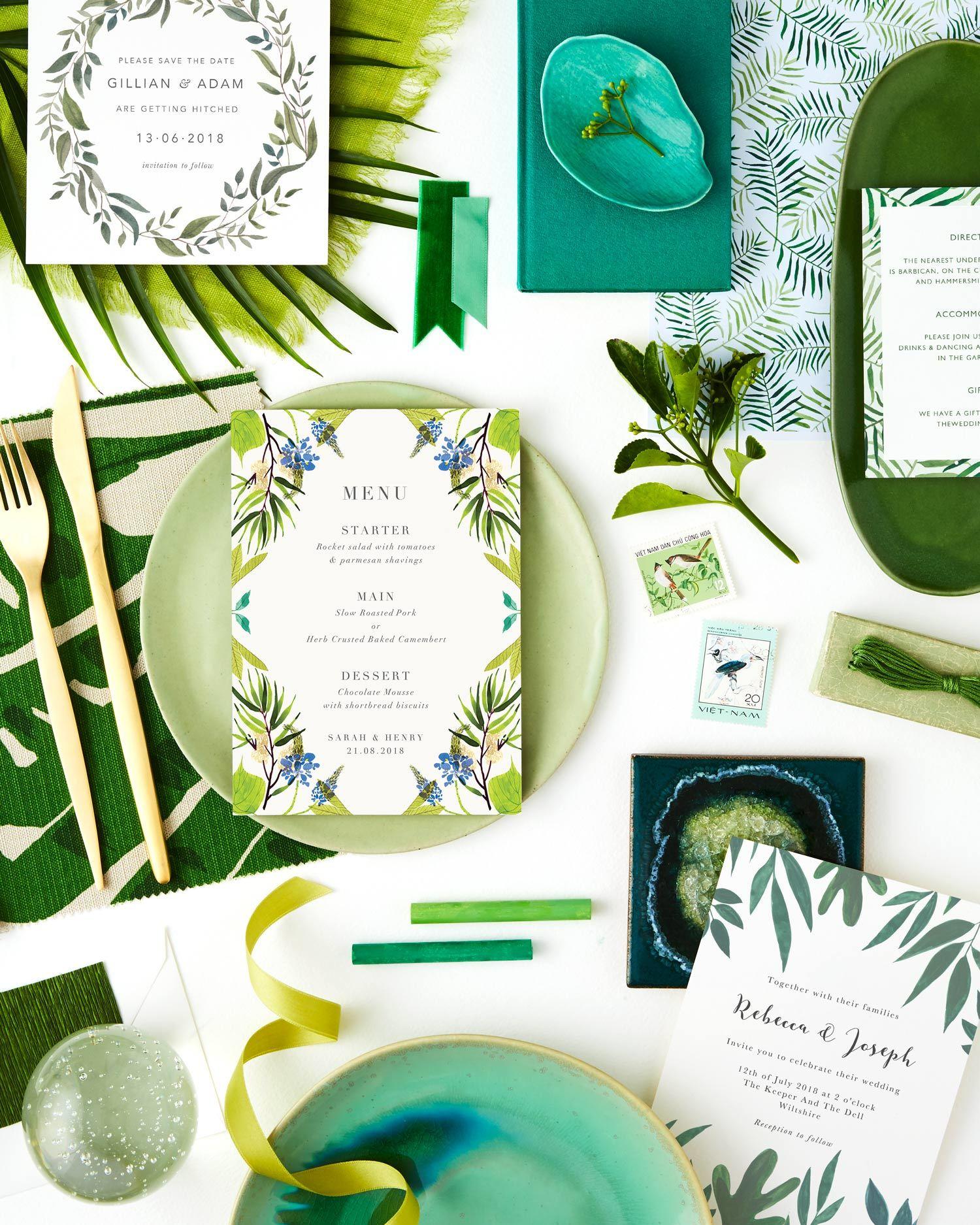 greenery summer wedding colour scheme