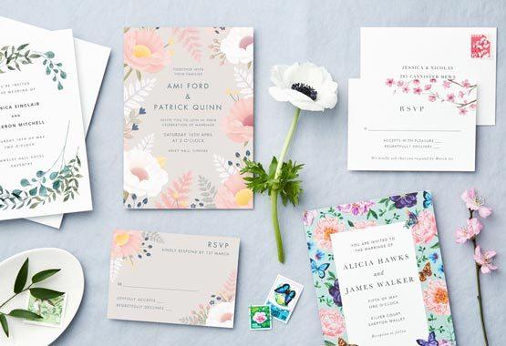 Spring Wedding Invitations