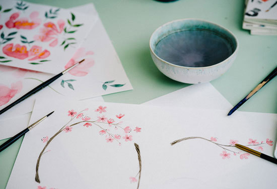 Watercolour in Blossom With Emma Block