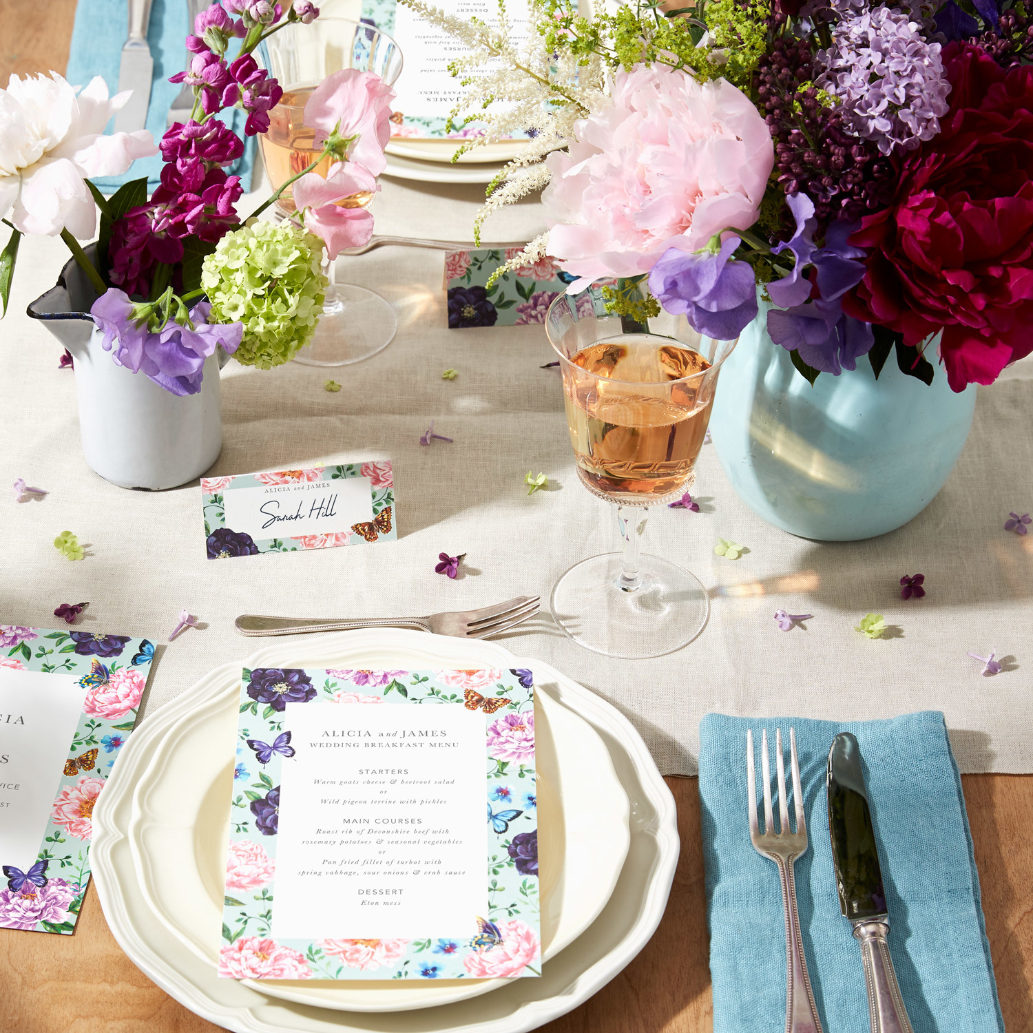 alt text. English Country Garden & 5 Ways To Style Your Wedding Table | The Fold | Papier