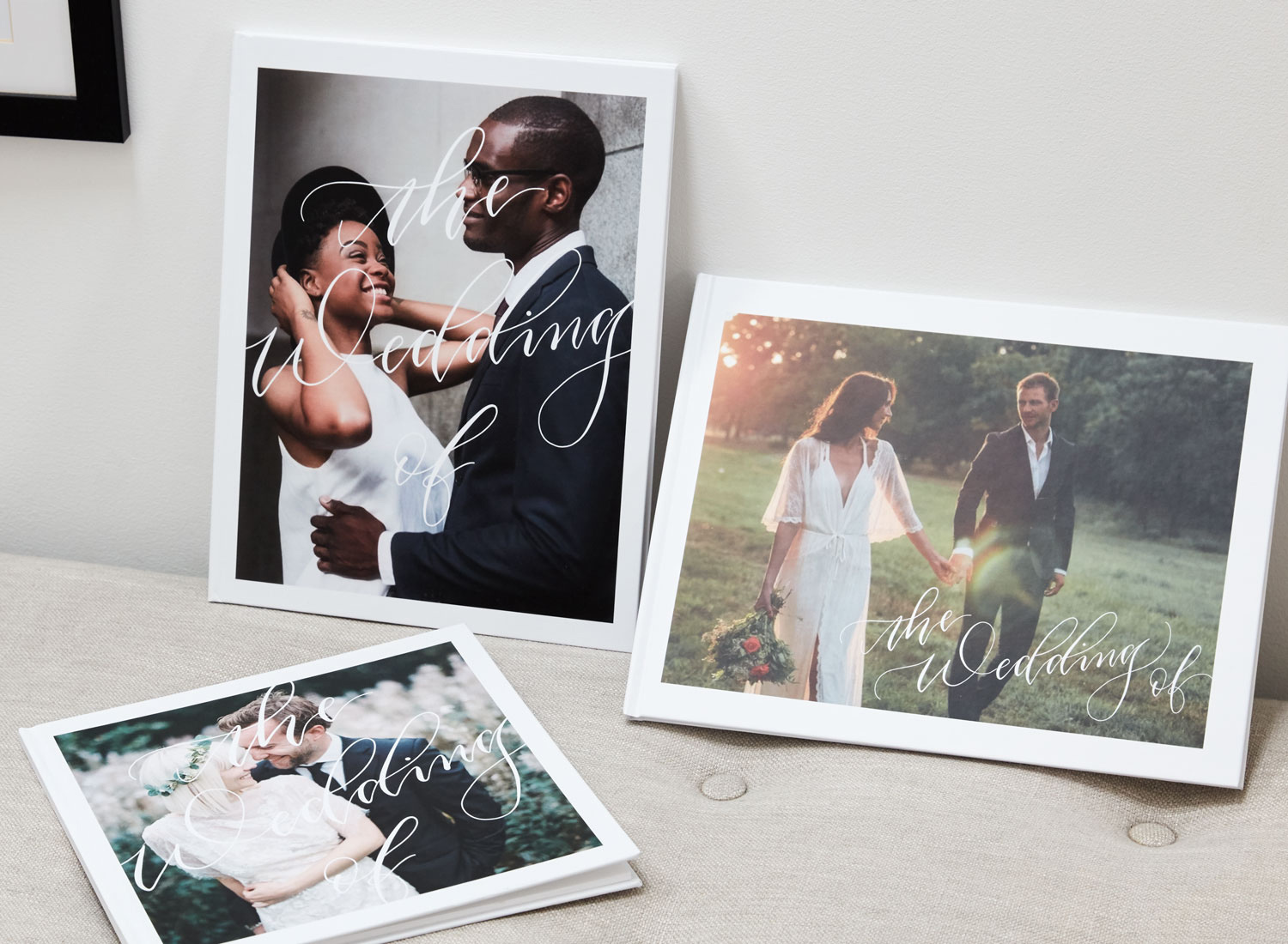 personalised photo book first wedding anniversary gift