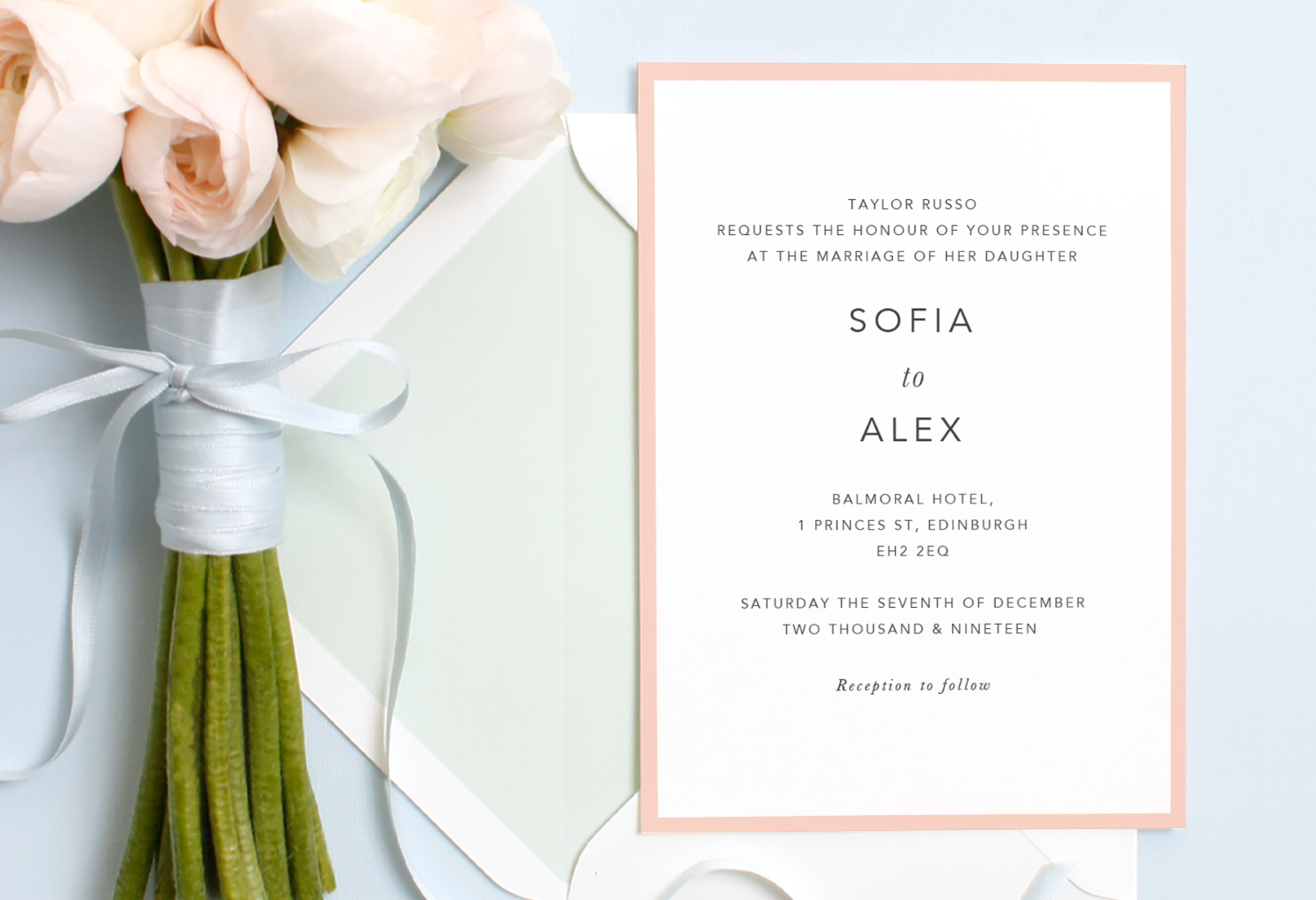 wedding invitation wording when one parent is deceased and you wish not to mention them