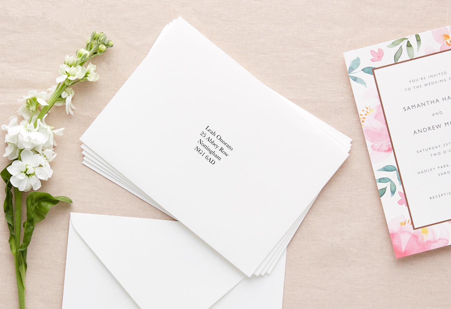 Addressing wedding envelopes to a single person plus one