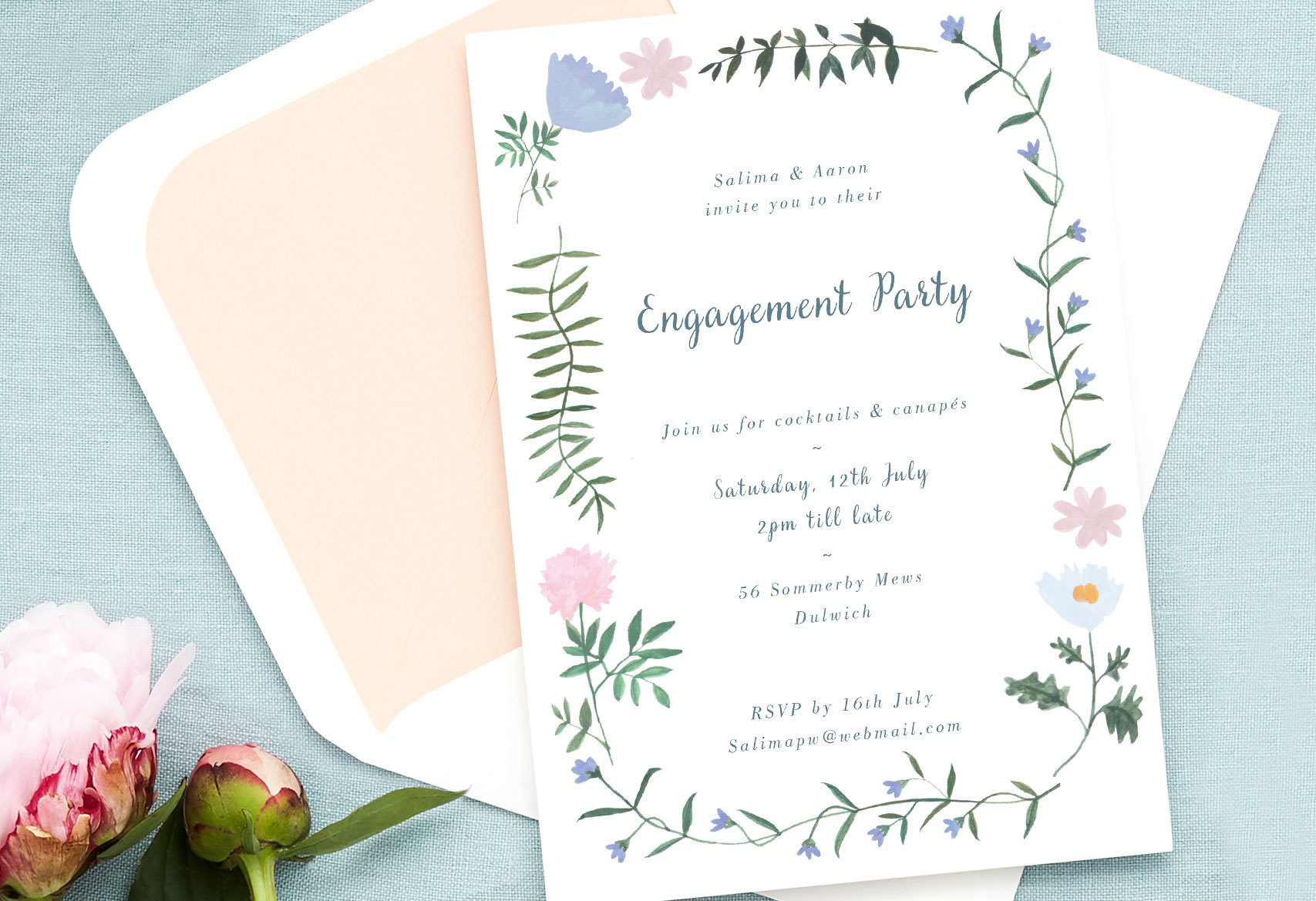 Engagement party invitation wording_cocktails and canapes
