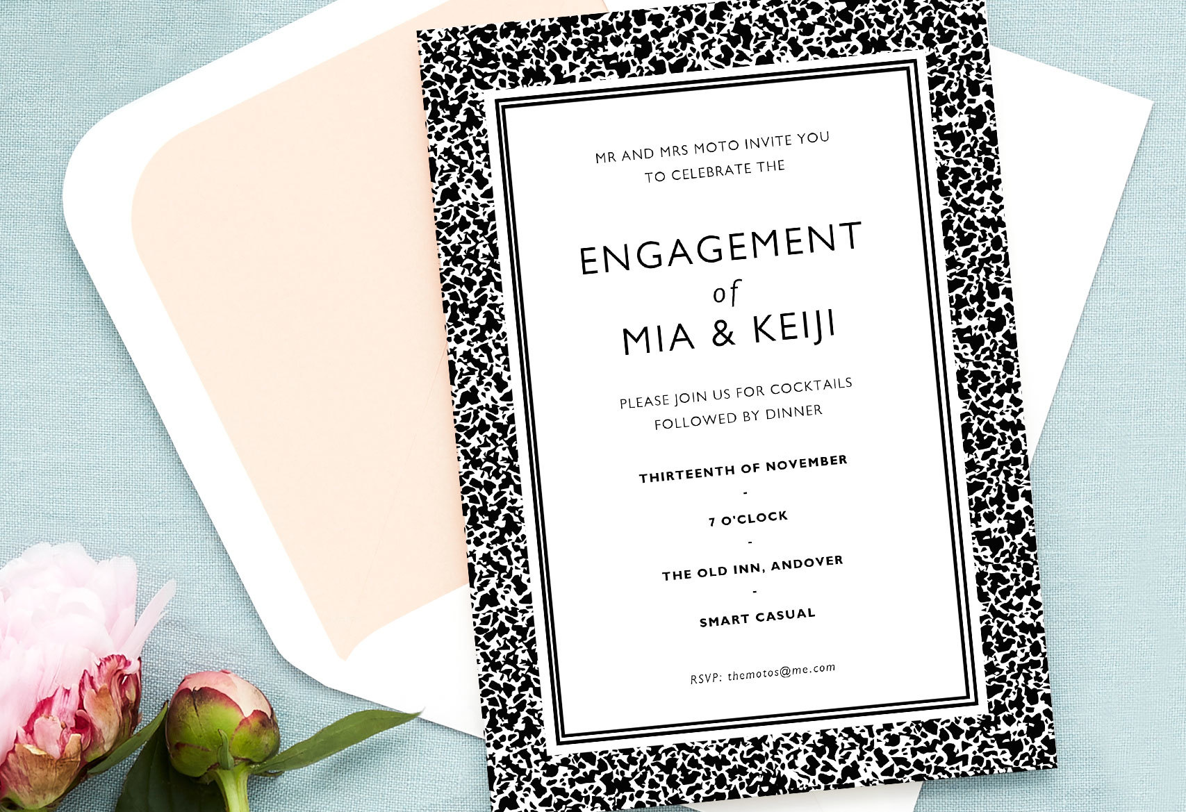 smart casual engagement party invitation wording