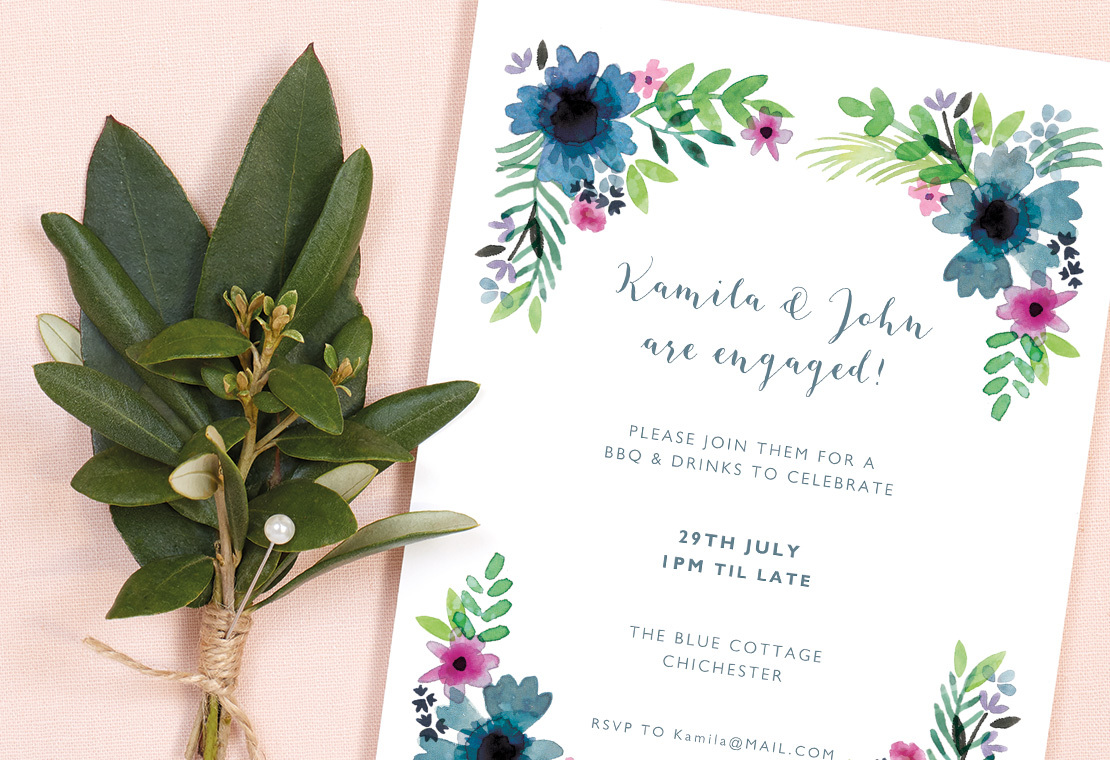 casual barbecue engagement party invitation wording