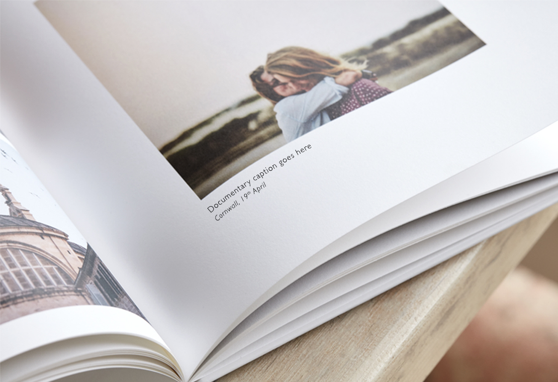 travel photo book with captions