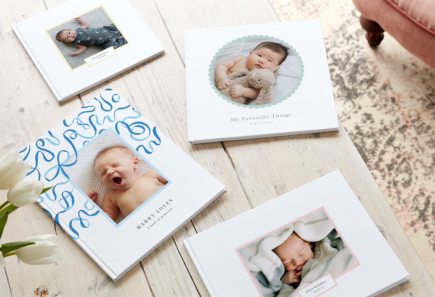 baby photo book idea - babys favourites