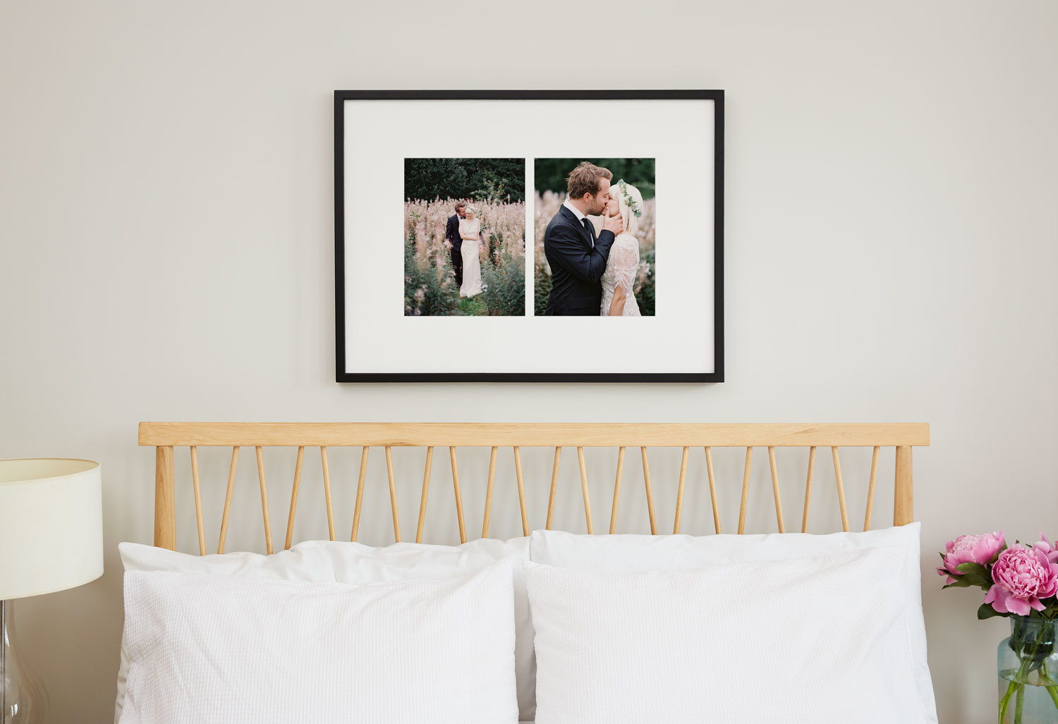 how to display wedding photos