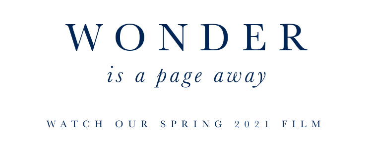 Wonder is a page away - watch our Spring 2021 film